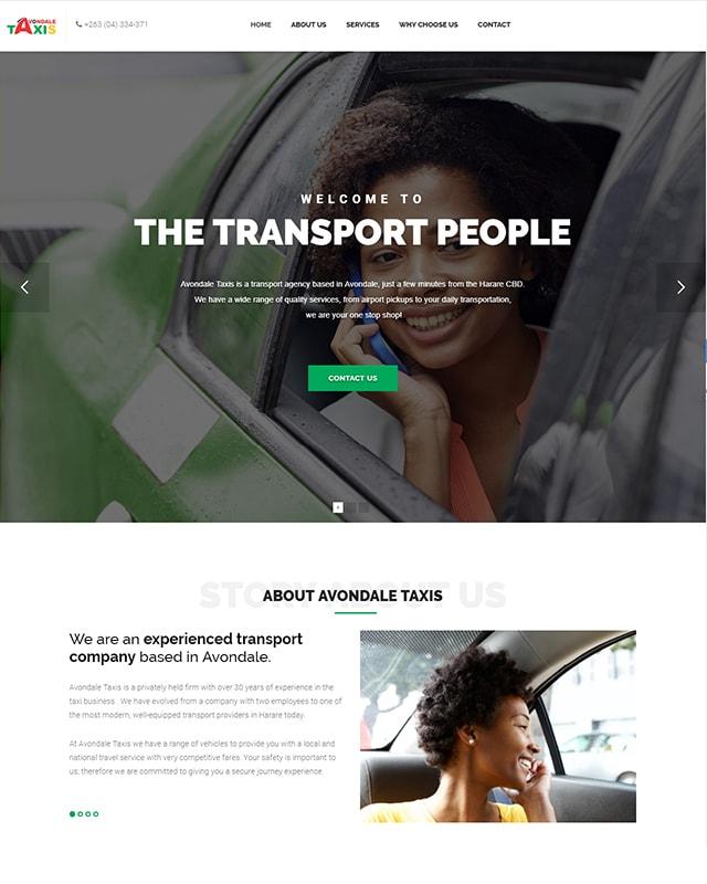 Avondale Taxis Website Screenshot