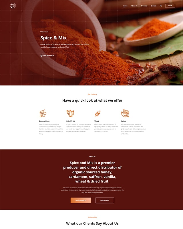 spiceandmix.com Screenshot