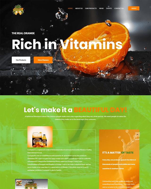 Coolsplash Website Screenshot