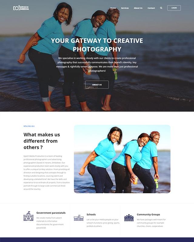 Epoch Media Website Screenshot