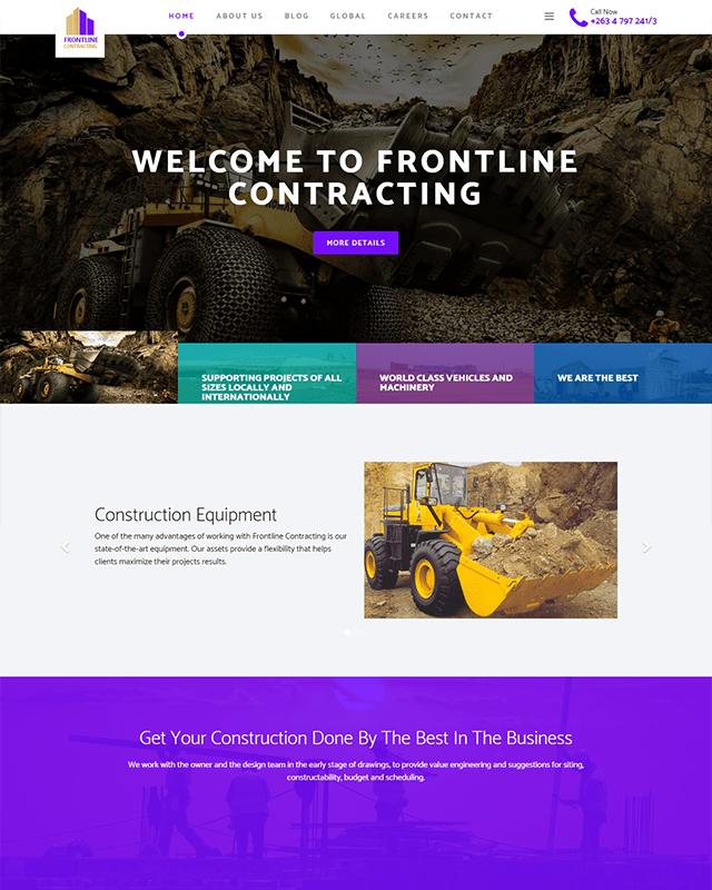 Frontline Contracting Website Screenshot