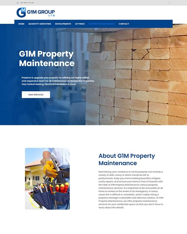 G1m Group Website Screenshot