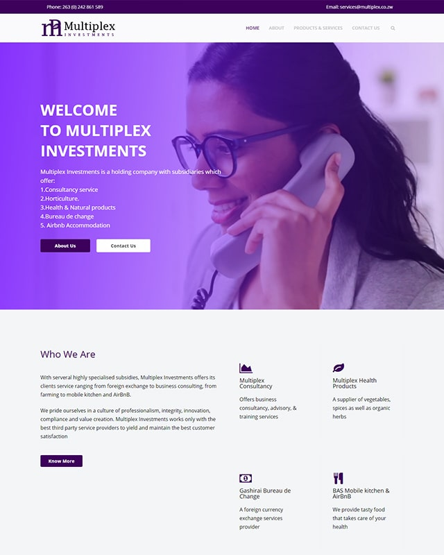 Multiplex Consulting Screenshot